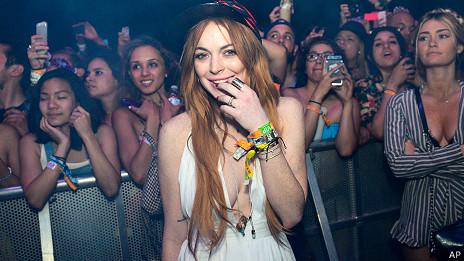 Lindsay Lohan es una habitual del Festival de Coachella.