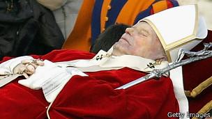 El funeral de Juan Pablo II el 8 de abril de 2005 fue un acto multitudinario.