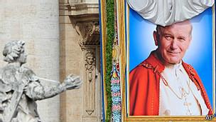 La beatificación de Juan Pablo II tuvo lugar el 1 de mayo de 2011.