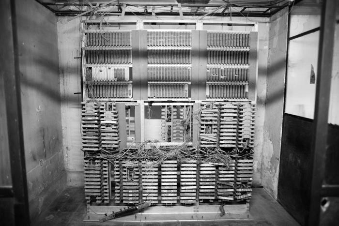 Máquina de espionaje telefónico de la CNI.  Se encuentra en el sótano del museo.  Foto: Javier Liaño