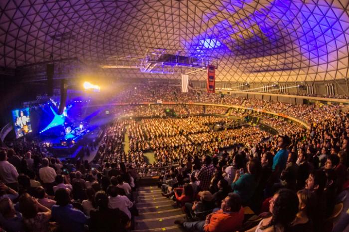 Cerca de 10 mil personas llegaron al Movistar Arena