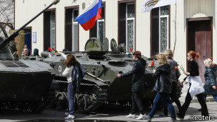 No está claro quién está en control, si el gobierno ucraniano o las fuerzas pro rusas.