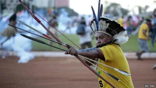 Una imagen impensable a días del Mundial en Brasil
