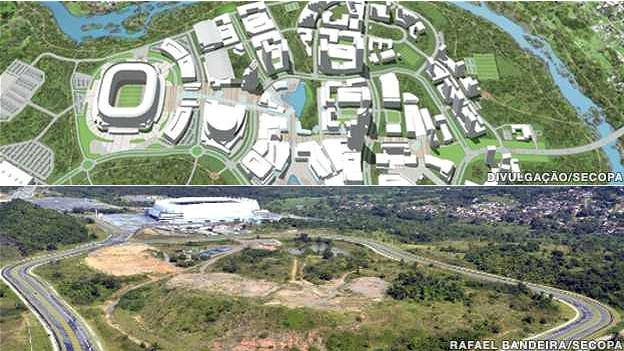 El proyecto Cidade da Copa, en São Lourenço da Mata, donde se construyó el estadio, iba a incluir un conjunto de viviendas y un centro comercial, pero sólo el estadio ha sido construido.
