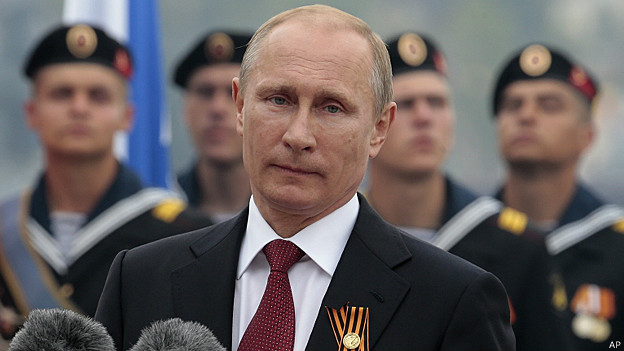 La primera visita de Putin a Crimea anexada fue para conmemorar 69 años del fin de la Segunda Guerra Mundial.