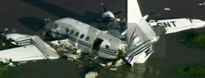Avioneta se estrella en el río de la Plata y mueren cinco de sus nueve ocupantes
