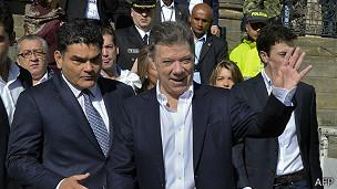 Santos llegó al poder en 2010 con los votos del uribismo.