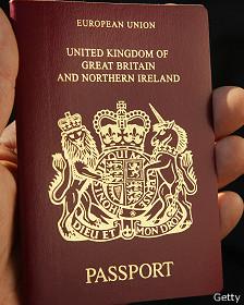 El pasaporte británico, uno de los más codiciados.