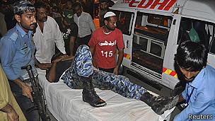 Se reportó por lo menos 14 heridos por el ataque.