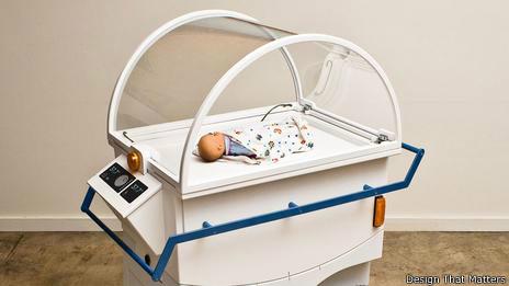 """La incubadora NeoNurture fue calificada de """"genial"""" pero no fue bien recibida en los hospitales. (Design That Matters)"""