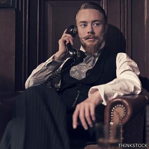 ¡En mangas de camisa!: una falta de decoro de este caballero victoriano.