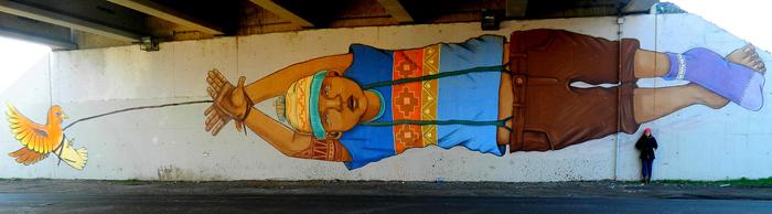 El rapto por Nass de graffitero Lax, Colina Foto: Gentileza Los Muros nos Hablan