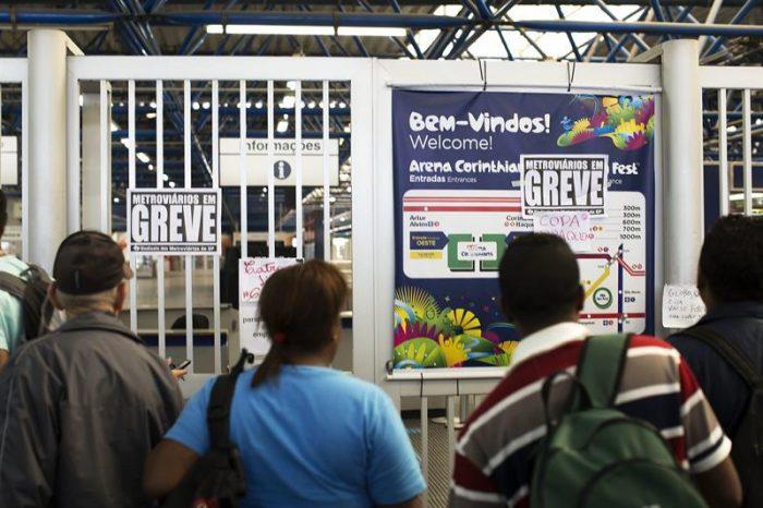 Fracasa negociación de la huelga en Metro de Sao Paulo a 3 días del Mundial