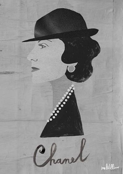 Ilustración de Chanel de estudio Mrwilliamdraw, Foto: Gentileza Mrwilliamdraw
