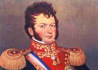 clásica imagen de Bernardo O´Higgins Riquelme