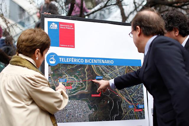 Undurraga presenta trazado de teleférico que unirá Providencia con la Ciudad Empresarial