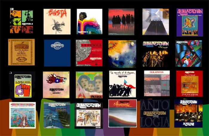 Algunos de los discos de Qulapayún