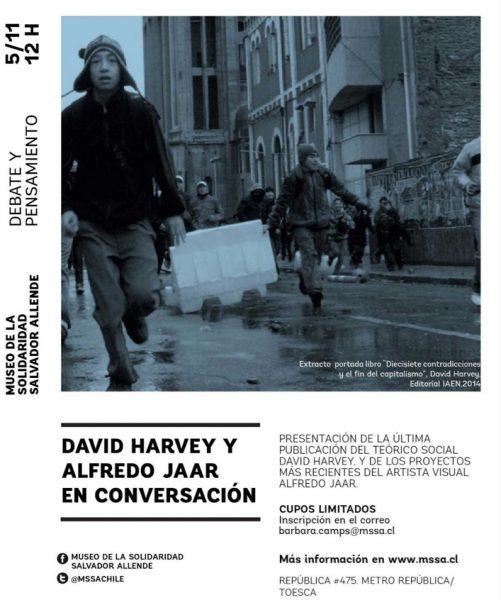 David Harvey y Alfredo Jaar en conversación, Museo de la Solidaridad Salvador Allende, 5 de noviembre
