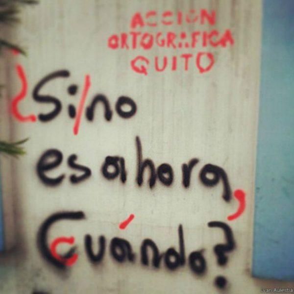 Acción ortográfica: los grupos que corrigen la ortografía de los grafitis