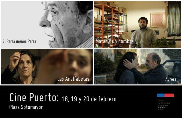 """Ciclo """"Cine Puerto"""" en Plaza Sotomayor, Valparaíso, del 18 al 20 de febrero"""