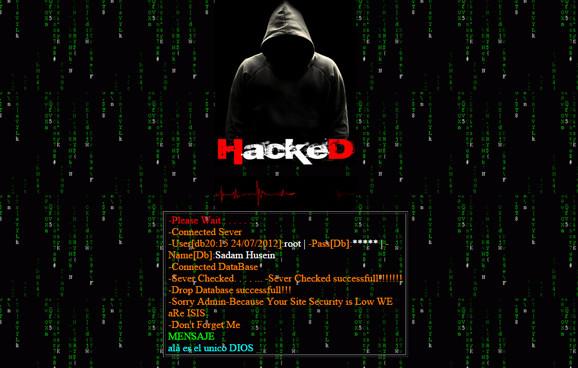 Hackean página del Ministerio de Defensa con supuesto mensaje de Estado Islámico