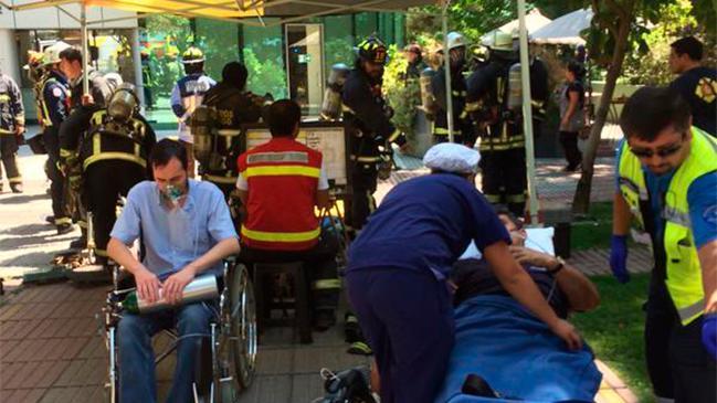 Tres muertos por inhalación de ácido clorhídrico en clínica de Vitacura