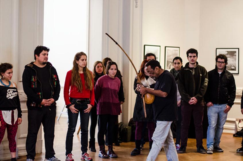 Workshop impartido por Nana Vasconcelos en Fundación Cultural de Providencia