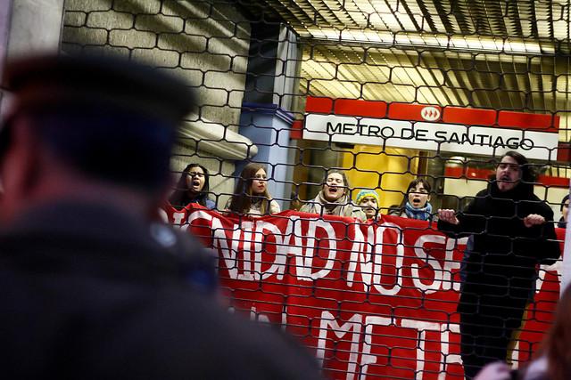 Oficinas del Metro fueron tomadas por trabajadores en huelga