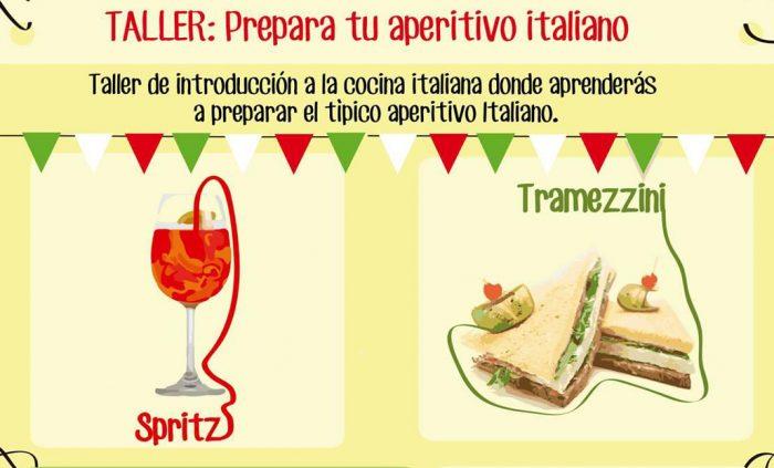 """Taller de introducción a la cocina italiana, """"Prepara tu aperitivo italiano"""" en Instituto Italiano de Cultura, 15 de Julio"""
