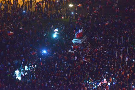 Se terminó la mufa: Todo Chile celebró a los campeones de América