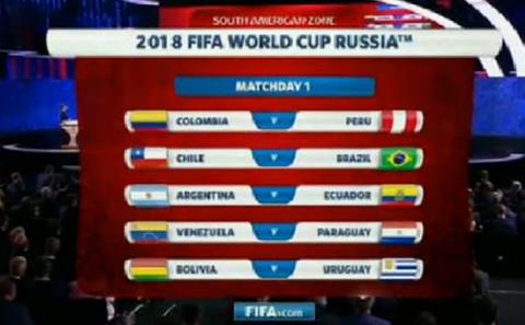 Chile debuta con Brasil de local rumbo a Rusia 2018
