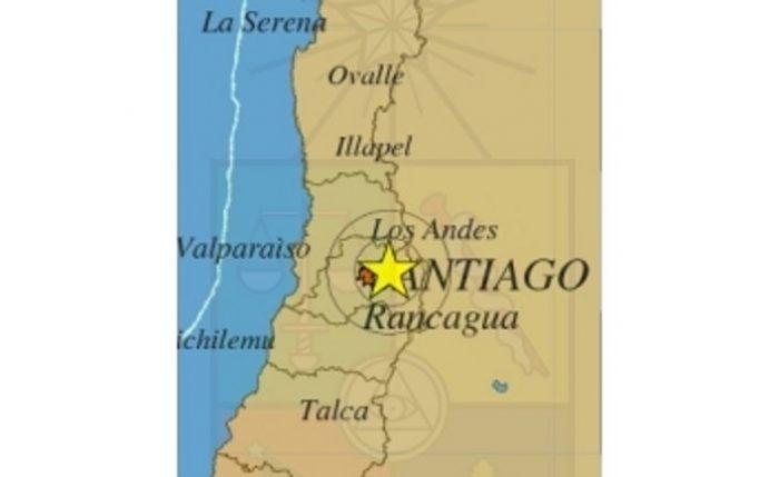 Leve sismo sacude las regiones Metropolitana, de Valparaíso y de O'Higgins