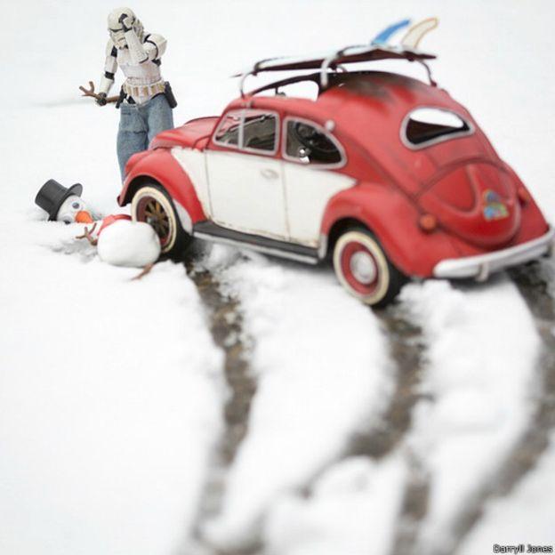 """El invierno, como se vio en el inicio de la pelicula """"El imperio contraataca"""", puede ser duro para los personajes de la Guerra de las Galaxias."""