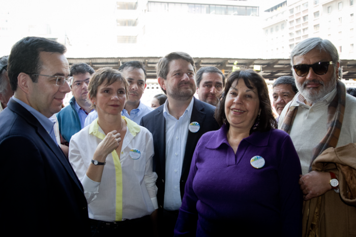 Carolina Tohá, Claudio Orrego y Mildred Döll