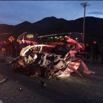 Cuatro muertos deja accidente en la Carretera del Cobre en Rancagua