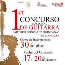 """Inscripciones para el Primer Concurso Nacional de Guitarra  """"Arturo González Quintana"""" en Lo Prado, hasta el 30 de octubre"""