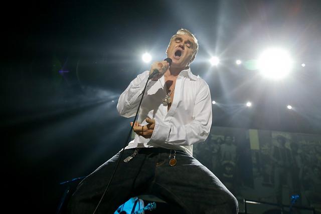 Un 'activista' Morrissey se presentó anoche en el Movistar Arena