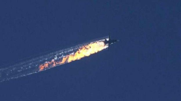 Turquía derriba avión de combate ruso cerca de la frontera con Siria