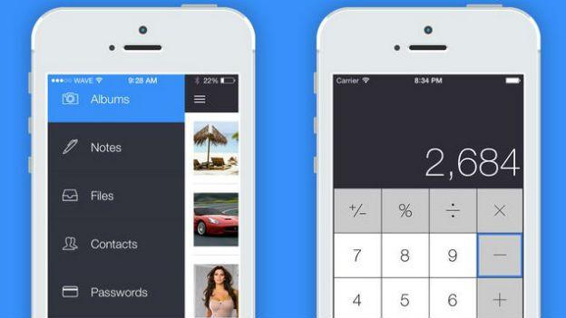 """Las """"apps fantasma"""" tienen la apariencia de aplicaciones normales como una calculadora. (Foto: Apple Store)"""
