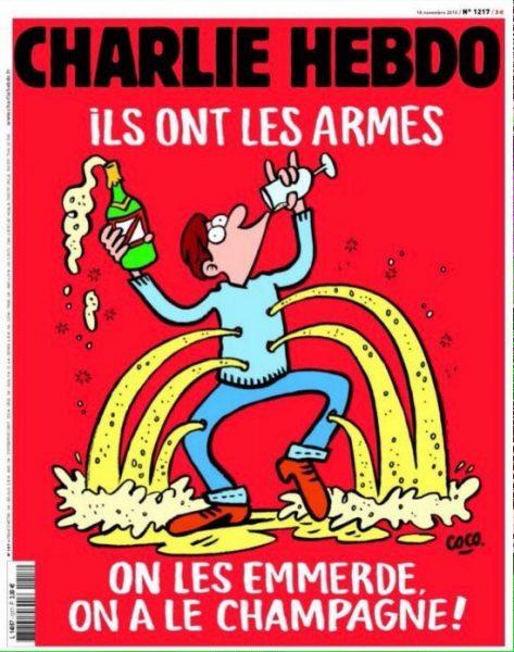 [Tuits] La desafiante portada de Charlie Hebdo a propósito de los atentados en París