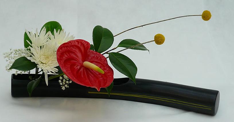 Demostración Y Exposición Ikebana Arte Floral Japonés En