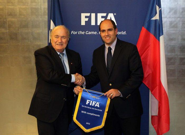 Millones para el Mundial Sub 17: el último aporte del Ministerio del Deporte a Jadue y Blatter
