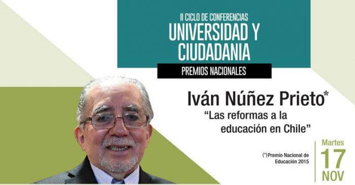 Premio Nacional de Educación abordará reformas educativas en conferencia gratuita en Montecarmelo, martes 17