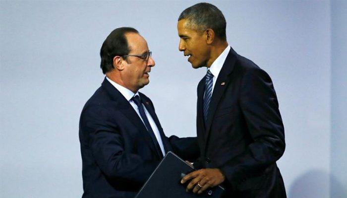 Hollande y Obama cenan en un restaurante tres estrellas del centro de París