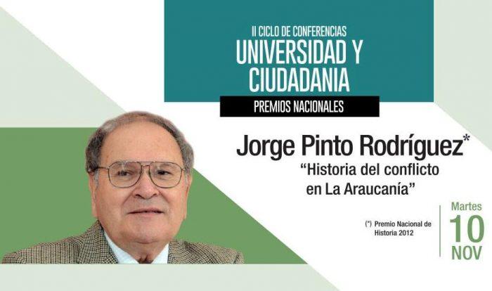 Jorge Pinto Rodríguez repasará la historia del conflicto en La Araucanía en la Casa de la Ciudadanía Montecarmelo, 10 de noviembre