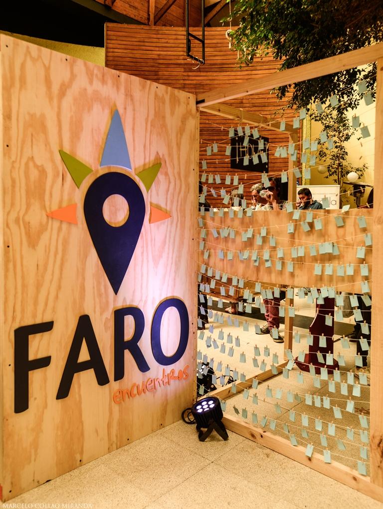 Faro recibió a los asistentes con un entretenido stand.