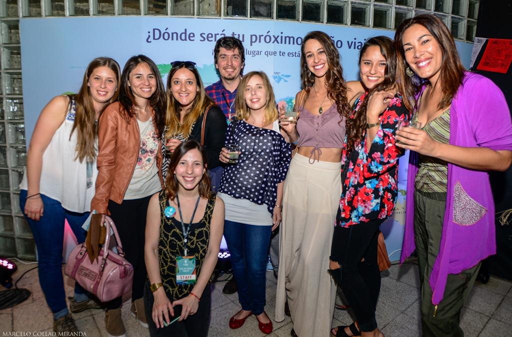 Parte de los integrantes de la comunidad de viajeros.