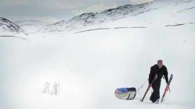 Henry Worsley en una foto de archivo durante su travesía por la meseta polar.