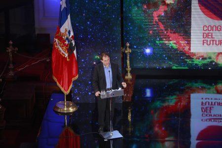 Martes 19 de enero 2016 la Presidenta de la Republica  Michelle Bachelet y los senadores GUido Girardi y patricio Waker dan inicio del evento Congreso Futuro 2016
