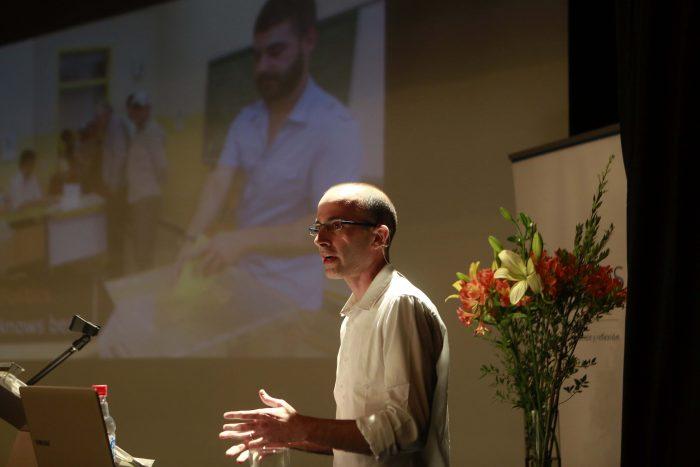 Jueves 21 enero 2016 EL penalista Yuval Harari  realiza su presentación llamada ¨ Data Religión¨  realizada en el Centro Civico Parque Bicentenario. Foto: Victor Tabja